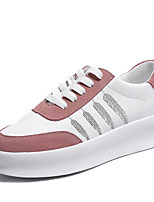 cheap -Women's Shoes PU Spring Summer Comfort Sneakers Flat Heel Round Toe for Gray Pink