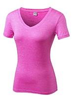 economico -Per donna A V T-shirt da corsa - Arancione, Fucsia, Grigio scuro Gli sport Elastene T-shirt Manica corta Abbigliamento sportivo Leggero,