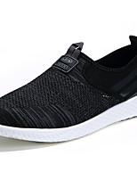 Недорогие -Муж. обувь Тюль Лето Удобная обувь Мокасины и Свитер Черный / Светло-серый / Синий