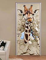 abordables -Calcomanías Decorativas de Pared - Calcomanías 3D para Pared Paisaje / Animales Habitación de estudio / Oficina / Habitación de Niños
