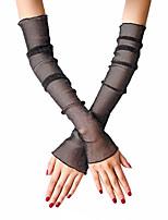 Недорогие -Жен. Очаровательный / Для вечеринки Без пальцев Перчатки - Кружева Однотонный