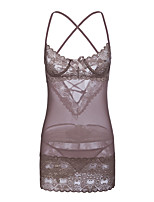 abordables -Costumes / Nuisette & Culottes Vêtement de nuit Femme - Dentelle, Couleur Pleine