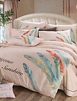 cheap -Duvet Cover Sets Contemporary 100% Cotton Embroidery 4 Piece