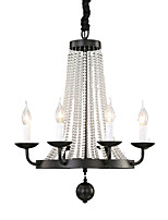 cheap -QINGMING® 6-Light Candle-style Chandelier Uplight - Mini Style, 110-120V / 220-240V Bulb Not Included / 10-15㎡ / E12 / E14 / VDE