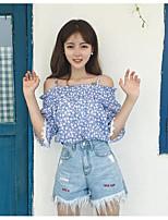cheap -Women's Cotton T-shirt - Geometric Boat Neck / Cotton / Geometric / Boat Neck
