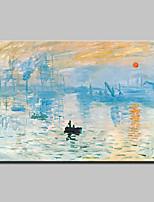 preiswerte -Hang-Ölgemälde Handgemalte - Abstrakt Landschaft Retro Traditionell Segeltuch