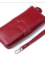Недорогие -Жен. Мешки Настоящая кожа Бумажники Молнии для Для шоппинга Коричневый / Винный / Тёмно-синий