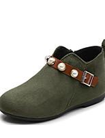 Недорогие -Девочки Обувь Полиэстер Наступила зима Модная обувь Ботинки для Военно-зеленный