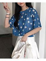 cheap -Women's Basic T-shirt - Polka Dot