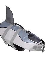 abordables -Chiens Gilet de sauvetage Vêtements pour Chien Couleur Pleine Animal Gris Matériau imperméable Térylène Costume Pour les animaux