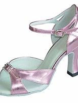 cheap -Women's Latin Shoes Silk Heel Stiletto Heel Dance Shoes Pink / Performance / Leather / Practice
