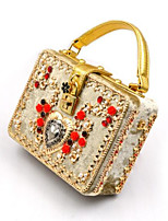 cheap -Women's Bags Cloth Evening Bag Buttons for Event / Party Gold