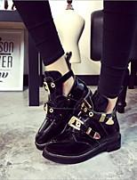 preiswerte -Damen Schuhe Künstliche Mikrofaser Polyurethan Frühling Winter Komfort Stiefel Blockabsatz für Schwarz