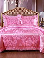 cheap -Duvet Cover Sets Luxury 100% Tencel Jacquard 4 Piece