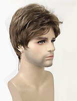 cheap -Toupees Matte Pixie Cut Synthetic Hair 100% kanekalon hair Brown Wig Men's Short Capless / Yes