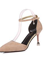 abordables -Femme Chaussures Daim Printemps été Confort Chaussures à Talons Talon Aiguille Bout pointu Jaune / Rouge / Amande