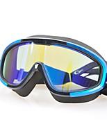 Недорогие -плавательные очки Противо-туманное покрытие / Компактность / Офис Поликарбонат Поликарбонат черный Другое