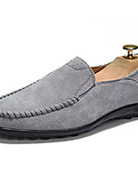 cheap -Men's Shoes Pigskin Fall Moccasin Comfort Loafers & Slip-Ons for Outdoor Black Gray Blue