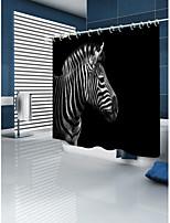 Недорогие -Занавески и крючки Современный Modern Полиэстер 3D механически Водонепроницаемый Ванная комната