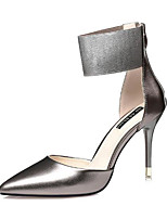 cheap -Women's Shoes PU(Polyurethane) Spring & Summer Basic Pump Heels Stiletto Heel Pointed Toe Silver / Pink / Champagne