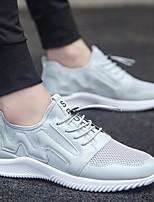 economico -Per uomo Scarpe Tulle Estate Comoda Sneakers Bianco / Nero / Grigio