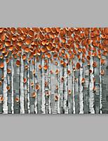 Недорогие -Hang-роспись маслом Ручная роспись - Цветочные мотивы / ботанический Modern Others
