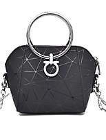 cheap -Women's Bags PU Shoulder Bag Zipper White / Black / Silver
