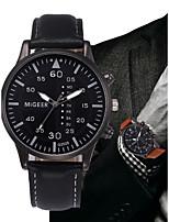 Недорогие -Муж. Кварцевый Наручные часы Китайский Секундомер Кожа Группа минималист Мода Черный Синий Коричневый