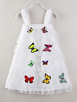 cheap -Toddler Girls' Butterfly Solid Colored Sleeveless Dress