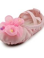abordables -Femme Chaussures de Ballet Tissu Plate Fleur Talon Plat Chaussures de danse Rose / Intérieur / Entraînement