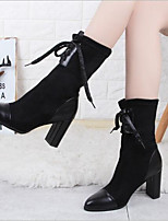 cheap -Women's Shoes Cashmere Winter Combat Boots Boots Chunky Heel for Black