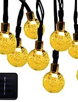 Недорогие -6м Гирлянды 30 светодиоды 1 монтажный кронштейн Тёплый белый / RGB / Белый Работает от солнечной энергии / Водонепроницаемый /