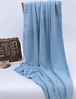 abordables -Qualité supérieure Serviette de bain, Couleur Pleine Mélangé polyester / coton Salle de séjour 1 pcs