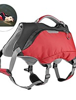 cheap -Pets Carrier & Travel Backpack Pet Carrier Trainer / Camping & Hiking / Portable Color Block Red