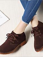baratos -Mulheres Sapatos Couro Inverno Conforto Botas Salto Robusto para Preto Marron