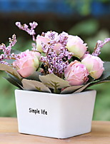 cheap -Artificial Flowers 1 Simple Style Roses Tabletop Flower / Included