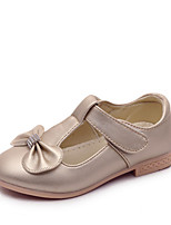 cheap -Girls' Shoes PU Spring & Summer Mary Jane Flats Bowknot for Birthday Party & Evening Gold White Pink