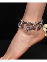 abordables -Bracelet de cheville - Eléphant Européen Or / Argent Pour Quotidien / Femme