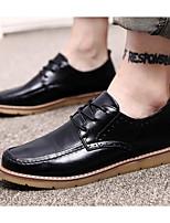 Недорогие -Муж. обувь Искусственное волокно Осень Удобная обувь Туфли на шнуровке Черный / Серый / Коричневый