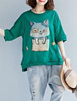abordables -Tee-shirt Femme, Animal Imprimé Basique Chat
