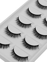cheap -Eye 1pcs Natural / Curly Daily Makeup Full Strip Lashes / Thick Make Up Portable / Universal Portable / Pro Others / Date 1cm-1.5cm