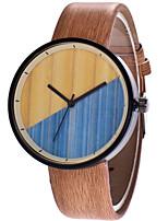 Недорогие -Муж. / Жен. Наручные часы Китайский Повседневные часы PU Группа Дерево / Мода Коричневый / Серый