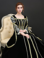 cheap -Princess Renaissance Costume Women's Dress / Outfits / Party Costume Black Vintage Cosplay Polyster 3/4 Length Sleeve Puff / Balloon