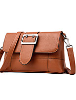 cheap -Women's Bags PU Shoulder Bag Buttons Red / Purple / Brown