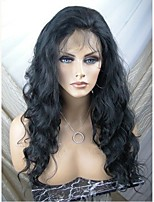 cheap -Virgin Human Hair Wig Brazilian Hair Wavy Layered Haircut 130% Density With Baby Hair Natural Hairline Black Short Long Mid Length Women's