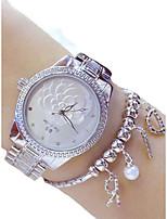 economico -Per donna Orologio elegante Cinese Cronografo Acciaio inossidabile Banda Casual Argento / Oro