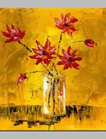 cheap -Oil Painting Hand Painted - Abstract / Floral / Botanical Classic Canvas