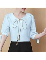 economico -blusa da donna - girocollo tinta unita