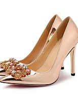 economico -Per donna Scarpe PU (Poliuretano) Primavera estate Decolleté Tacchi A stiletto Appuntite Con diamantini Argento / Rosso / Champagne