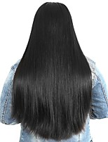 cheap -Unprocessed Human Hair Wig Peruvian Hair Straight Side Part 250% Density With Baby Hair With Bleached Knots Unprocessed For Black Women